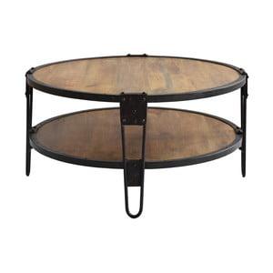 Konferenčný stôl z mangového dreva a recyklovaného kovu RGE Bangalore, ⌀ 90 cm