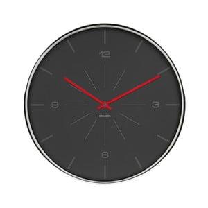 Čierne hodiny Karlsson Line