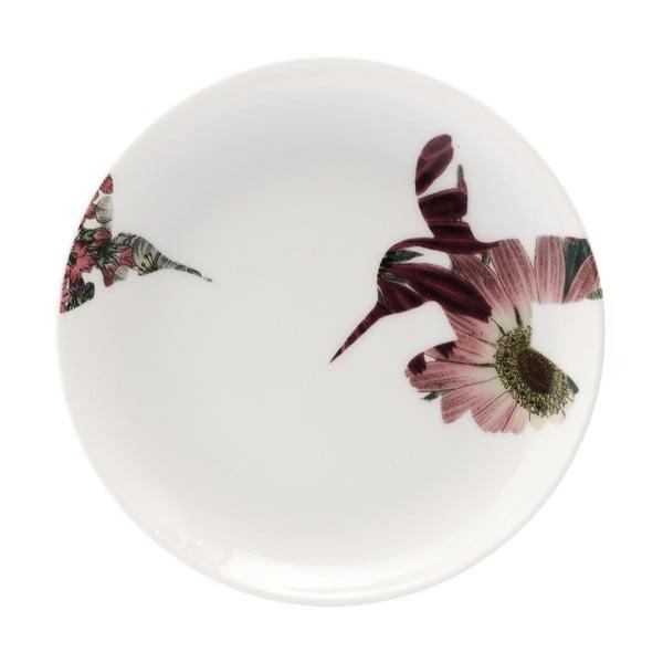Sada 4 porcelánových dezertných tanierov Flutter, 14 cm