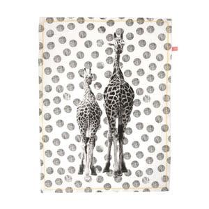 Kuchynská utierka Giraffes Dots, 50x70 cm