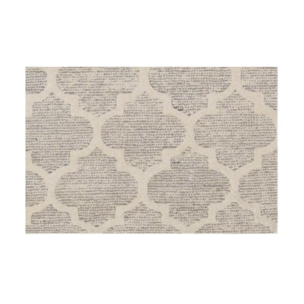 Ručne tuftovaný strieborný koberec Bakero Diamond, 153x244 cm