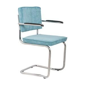 Sada 2 modrých stoličiek s opierkami Zuiver Ridge Kink Rib