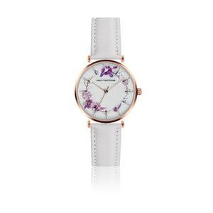 Dámske hodinky s bielym remienkom z pravej kože Emily Westwood Ramona