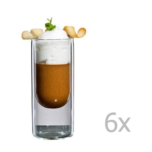 Sada 6 úzkych pohárov bloomix Half Moon