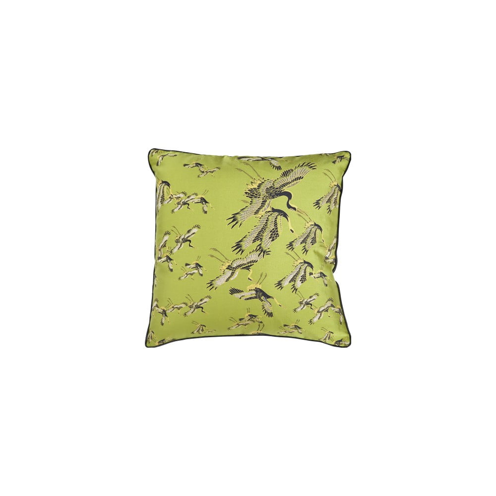 Zelený vankúš s prímesou bavlny Bahne & CO