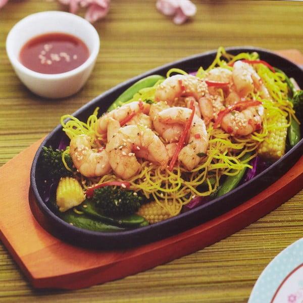 Liatinová panvica s doštičkou Kitchen Craft Oriental