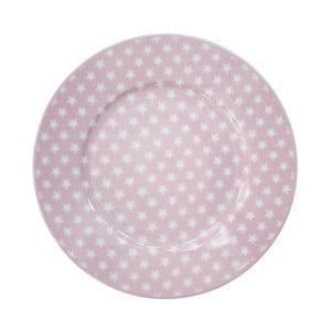 Dezertný tanier Krasilnikoff Stars Pink