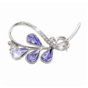 Brošňa so Swarovski Elements Laura Bruni Smoona Violet