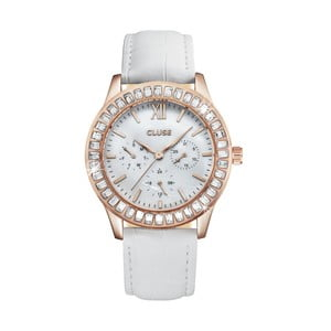 Dámské hodinky Arabesque Rose Gold White, 40 mm