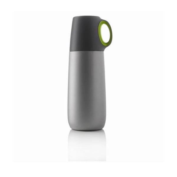 Zelená termoska s hrnčekom XDDesign Bopp, 600 ml