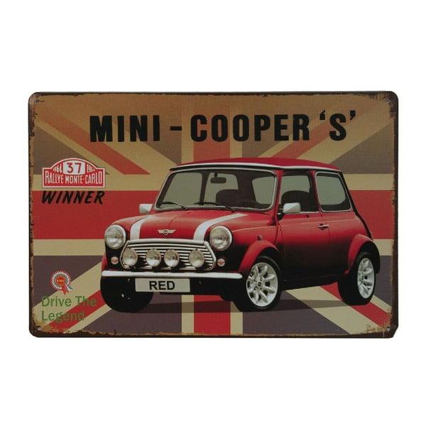 Ceduľa Mini Cooper, 20x30 cm