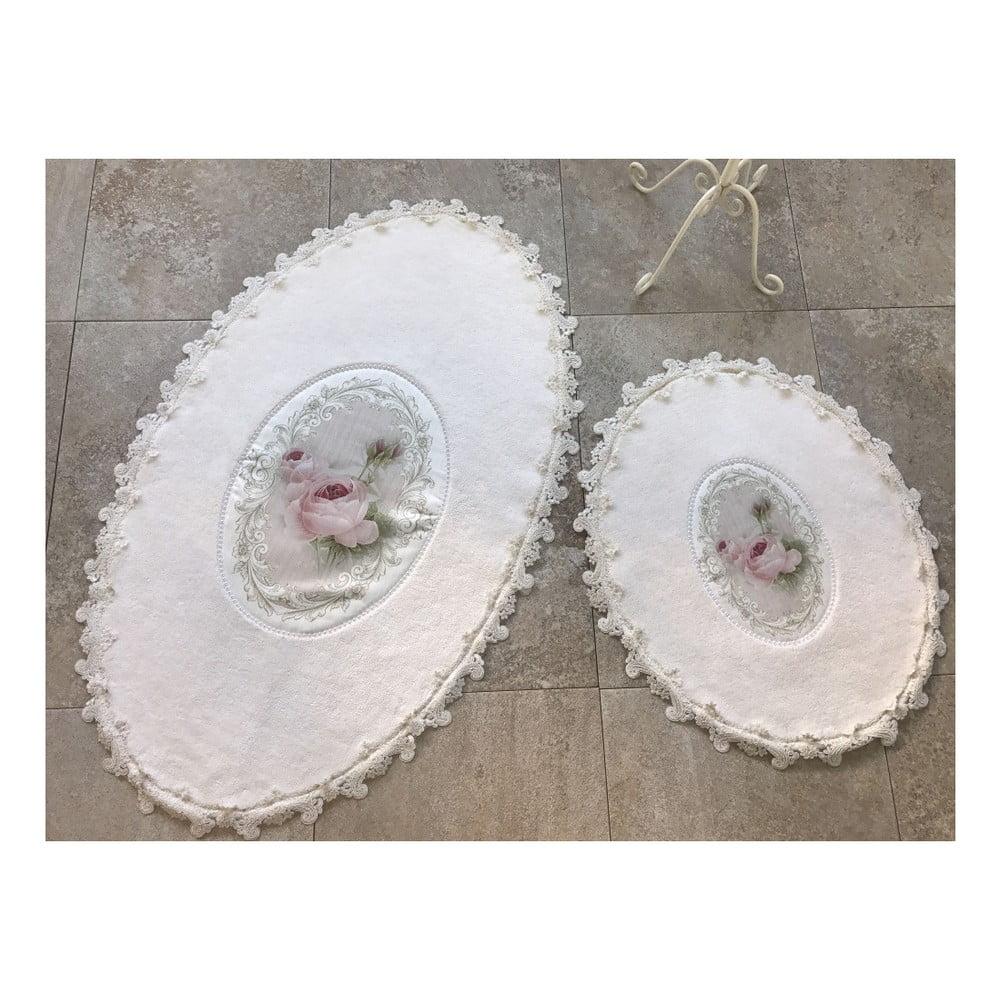 Sada 2 kúpeľňových podložiek Alessia Inci Oval Cream