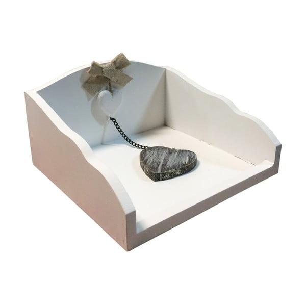 Biely box na obrúsky Bolzonella s ťažidlom