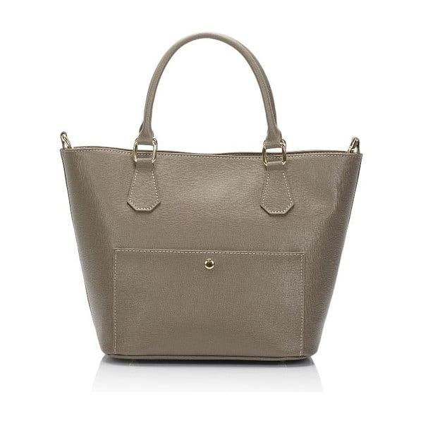 Béžová kožená kabelka Giulia Massari Bycast