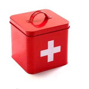 Červená kovová lekárnička Versa First Aid Kit