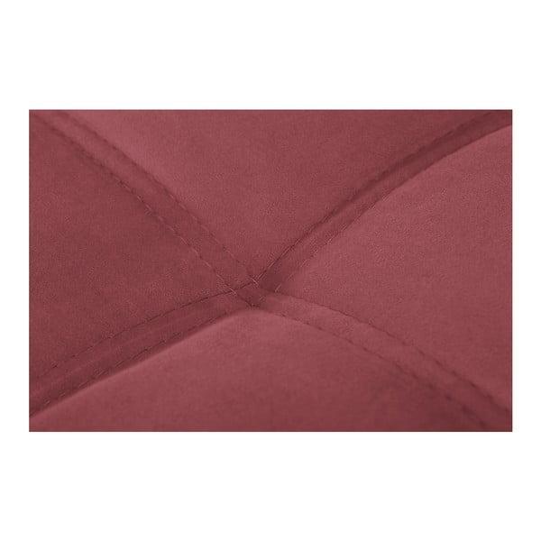 Čierno-ružová pohovka Modernist Crinoline, ľavý roh