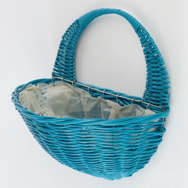 Nástenný ratanový kvetináč Baskie Blue