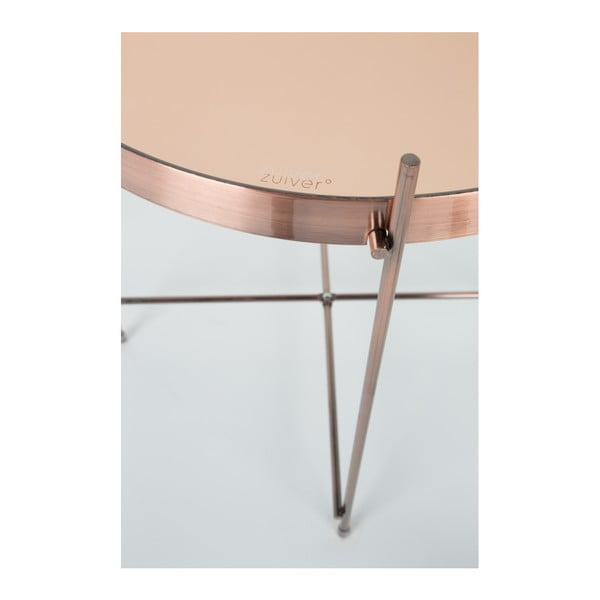 Medený odkladací stolík Zuiver Cupid