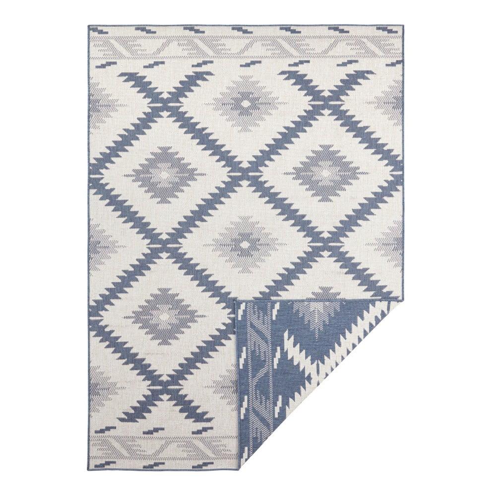 Modro-krémový vonkajší koberec Bougari Malibu, 170 x 120 cm