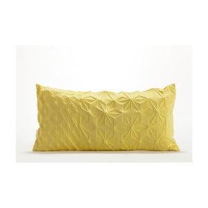 Žltá obliečka na vankúš Mikabarr Amit, 60 x 30 cm