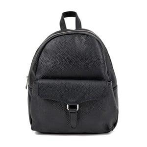 Čierny kožený batoh Isabella Rhea Mille