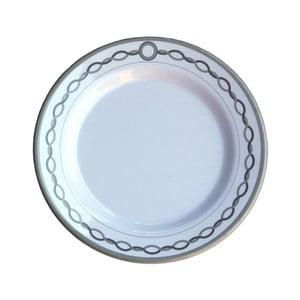 Sada 6 melamínových tanierikov Sunvibes Chaine, ⌀ 20 cm