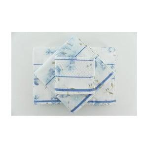 Sada 3 osušiek Camene Blue, 30x50 cm + 50x90 cm + 70x140 cm