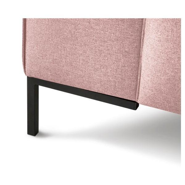 Růžová rohová štvormiestna pohovka Cosmopolitan Design Seville, levý roh