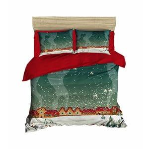 Vianočné obliečky na dvojlôžko s plachtou Renne, 160×220 cm