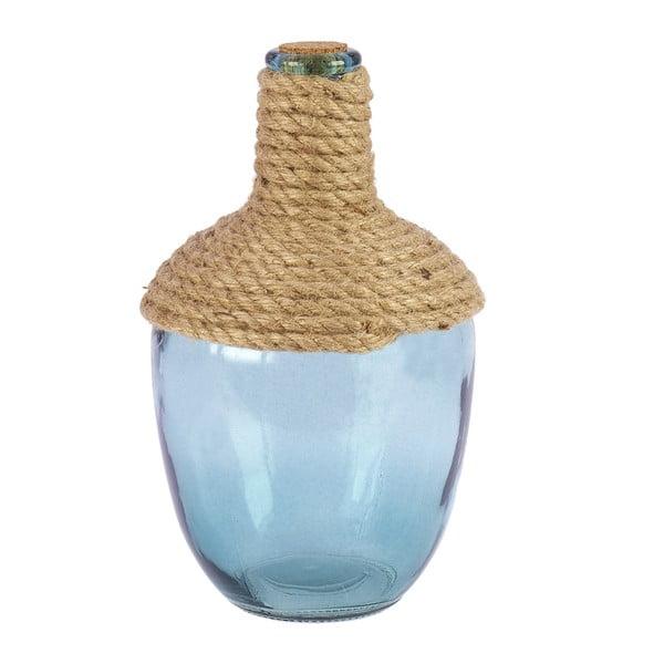 Sklenená váza Rope, 26 cm, zelená