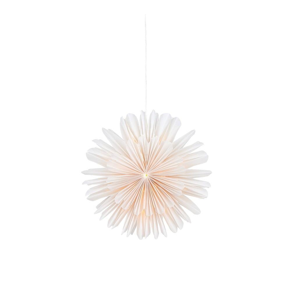 Biela závesná sveteľná dekorácia Markslöjd Lisa, ø 46 cm