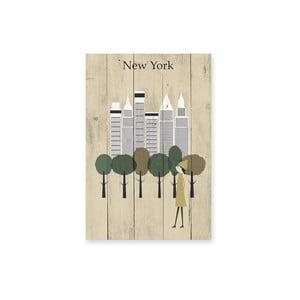 Nástenná ceduľa New York