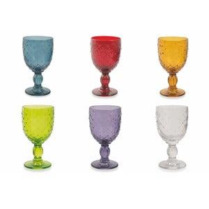 Sada 6 farebných pohárov na víno Villa d'Este Rombi, 280 ml