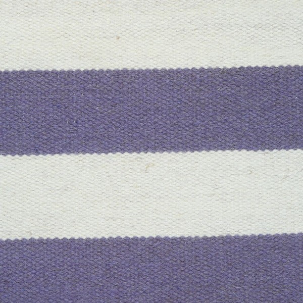 Vlnený koberec Geometry Stripes Purple & White, 160x230 cm