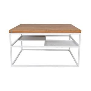 Biely konferenčný stolík Take Me HOME Foursquare, 80×80cm