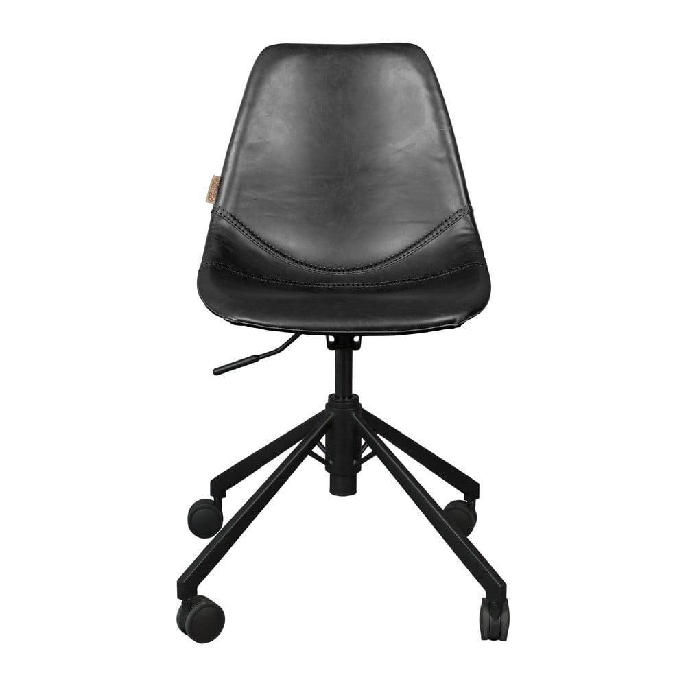 Čierna kancelárska stolička na kolieskach Dutchbone Franky