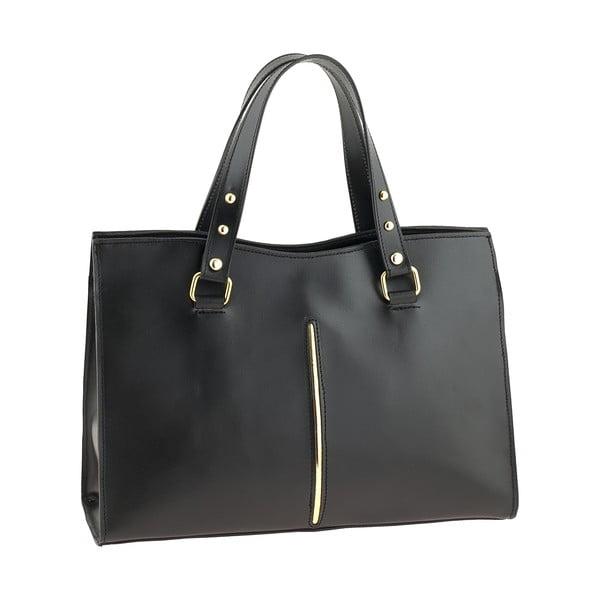 Čierna kožená kabelka Ore Diece Frosinone