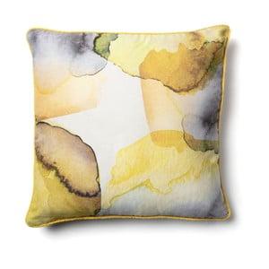 Žltá obliečka na vankúš La Forma Arlinet, 45 × 45 cm