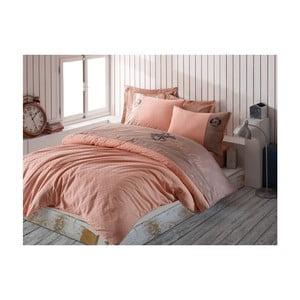 Obliečky z bavlneného saténu na dvojlôžko Soft, 200 × 220 cm