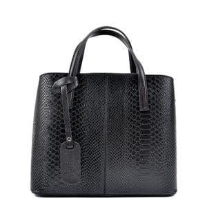 Čierna kožená kabelka Roberta M Mattia