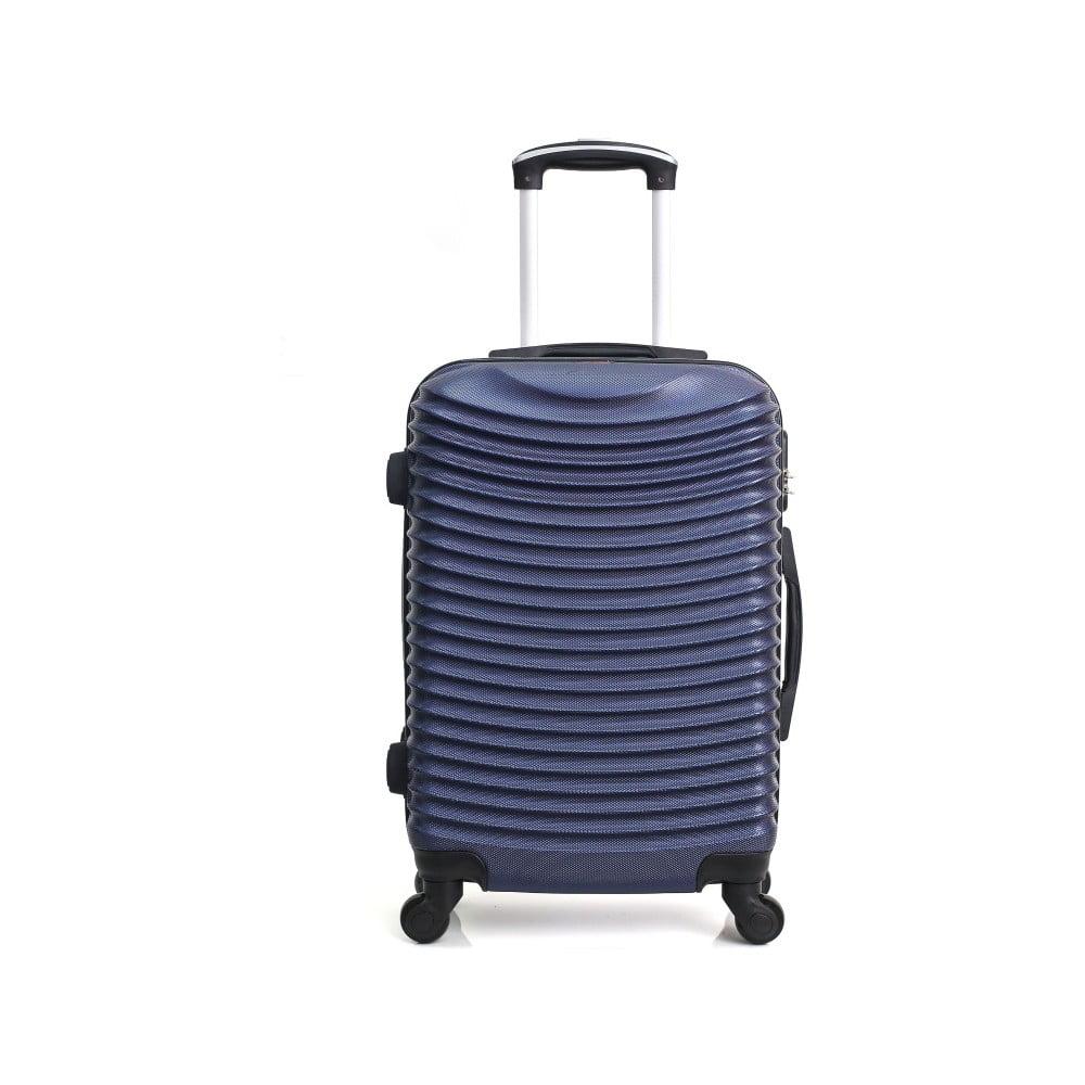 Tmavomodrý cestovný kufor na kolieskach Hero Etna, 96 l