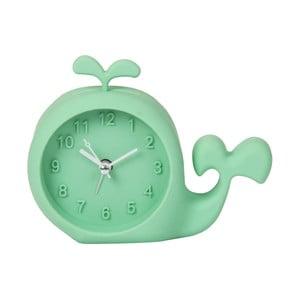 Zelené hodiny s budíkom Just 4 Kids Green Whale