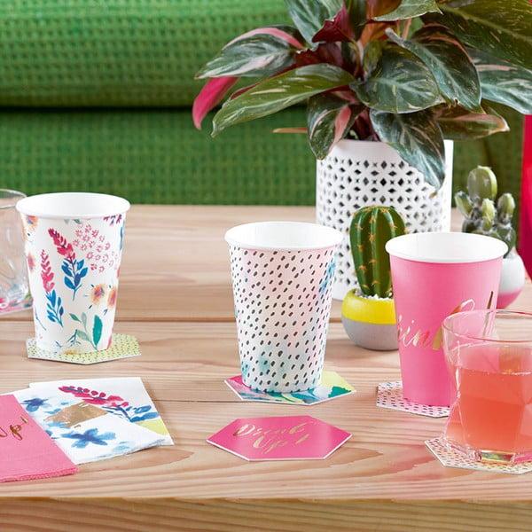 Sada 12 papierových pohárikov Talking Tables Fantastic Summer