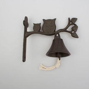 Nástenný liatinový zvonček Dakls Rustico Owl