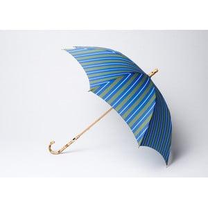 Dáždnik Stripe, modro-zelený