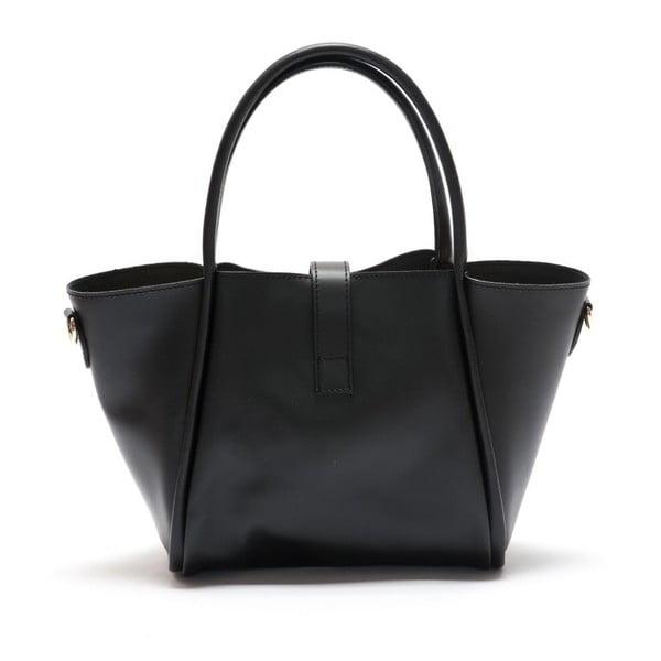 Čierna kožená kabelka Mangotti Walleriana