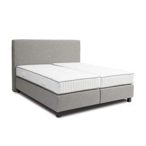 Svetlosivá boxspring posteľ Revor Roma, 140 x 200 cm