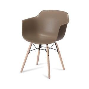 Sivá jedálenská stolička s nohami z bukového dreva Furnhouse Jupiter
