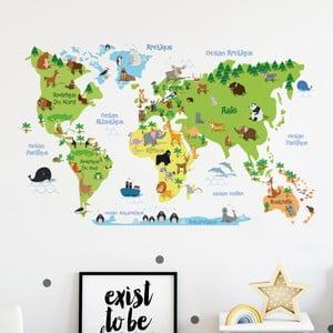 Nástenná samolepka Ambiance Childrens World Map