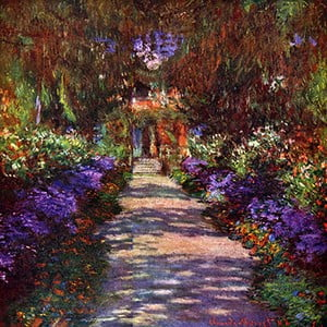 Obraz Claude Monet - Path in Monets Garden, 60x60 cm